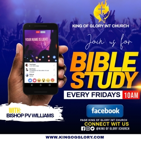 BIBLE STUDY FLYER Instagram Post template