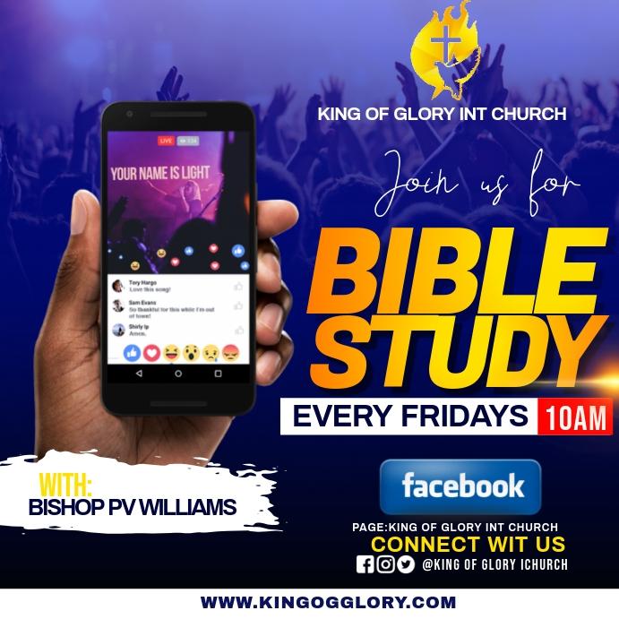 BIBLE STUDY FLYER Instagram 帖子 template