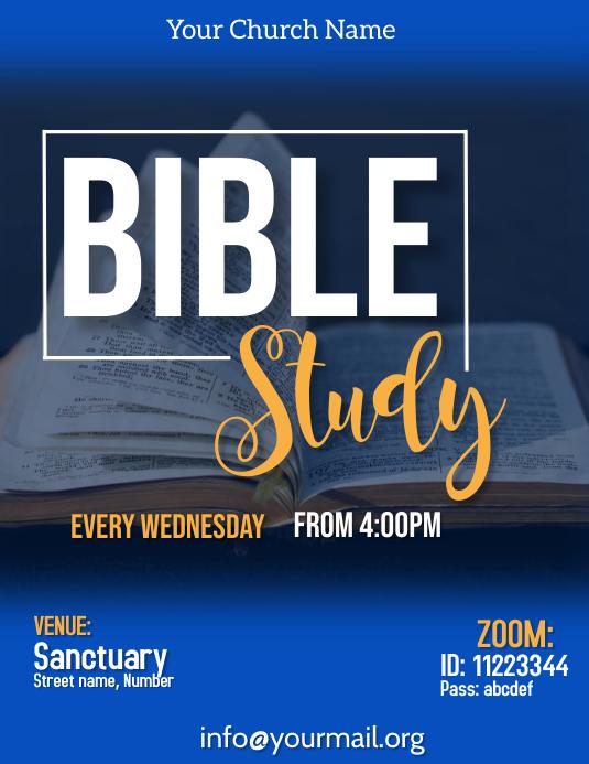 bible study flyer Pamflet (Letter AS) template