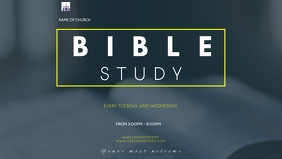 BIBLE STUDY FLYER Vidéo de couverture Facebook (16:9) template