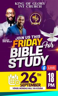 Bible study flyer VSA Wetlik template