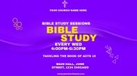 bible study flyer Affichage numérique (16:9) template