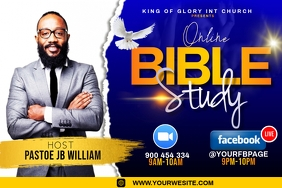 BIBLE STUDY FLYER Etiqueta template