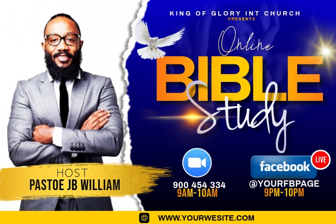 BIBLE STUDY FLYER Etiket template