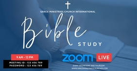 BIBLE STUDY FLYER Facebook Shared Image template