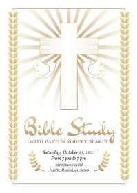 Bible study flyer template #2 A6