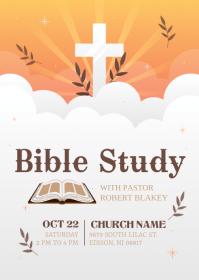 Bible study flyer template #3 A6