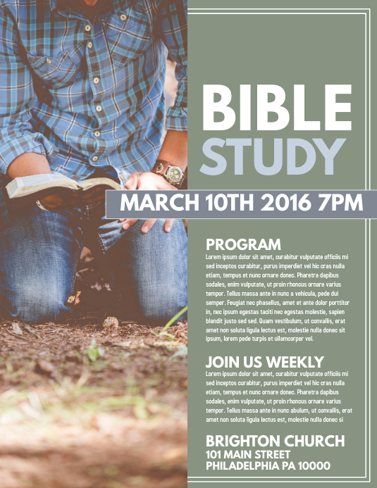 bible study template