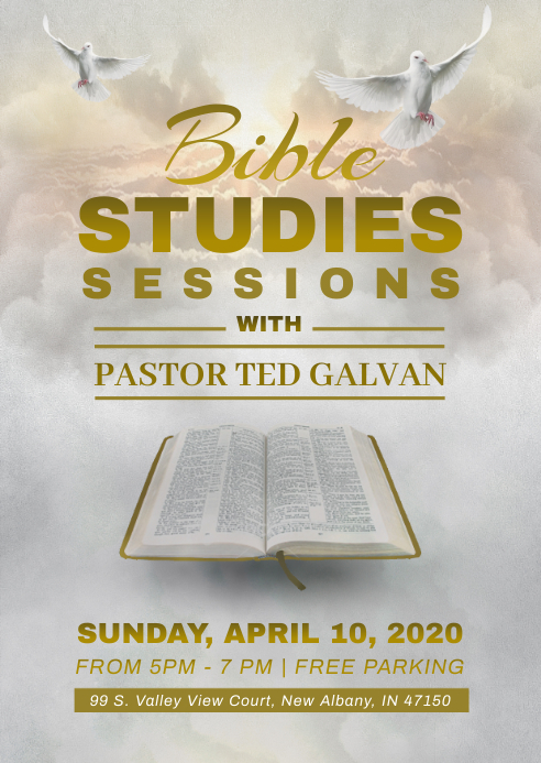 Bible study flyer template A6