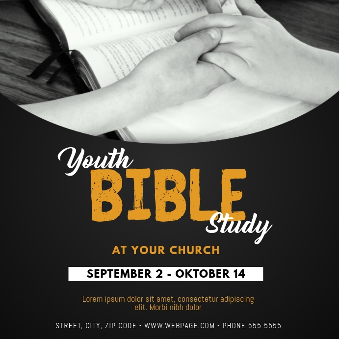 Bible Study Instagram Post Template