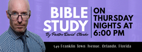 Bible Study Modern Church Banner template