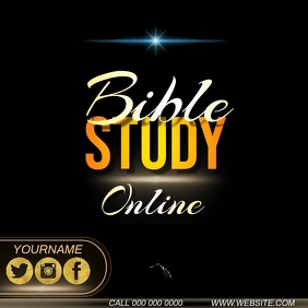 bible study online ad Instagram Post template