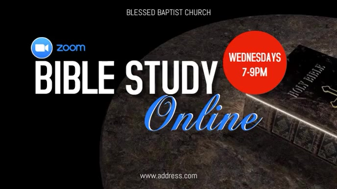 Bible Study Online 数字显示屏 (16:9) template
