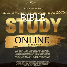 BIBLE Study Online From Home Template