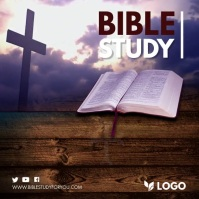 Bible Study Online Session Invitation Slidesh Square (1:1) template