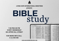 Bible Study poster A3 template