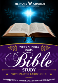 BIBLE STUDY POSTER A4 template