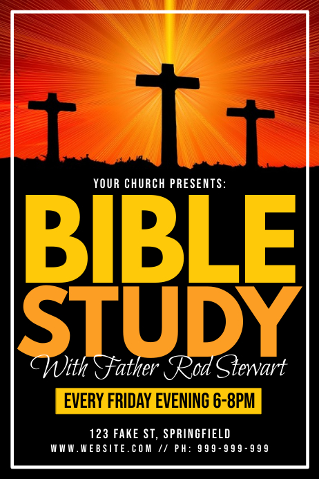 bible study poster template