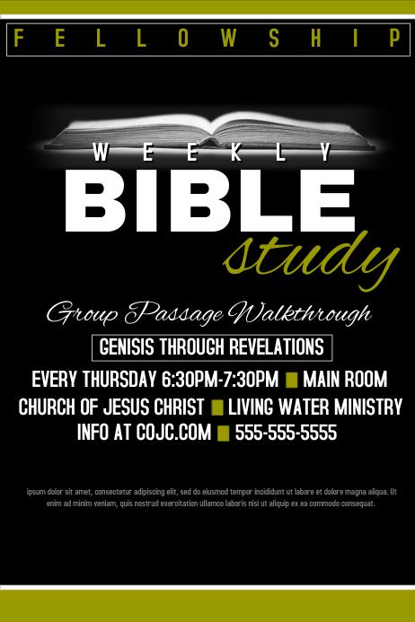 bible study poster