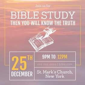 Bible Study Sessions Church Ad Instagram Video