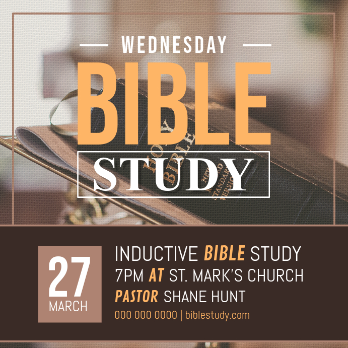 Bible Study Sessions Instagram Post