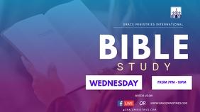 BIBLE STUDY TEMPLATE งานแสดงผลงานแบบดิจิทัล (16:9)