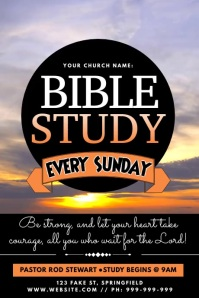 Bible Study Video Poster template