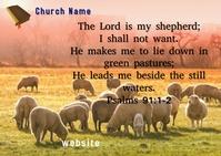 Bible Verse ไปรษณียบัตร template