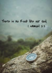 Bible verse flyer A3 template