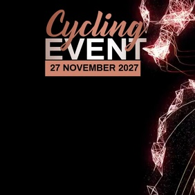 BICYCLE EVENT AD Square (1:1) template