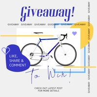 Bicycle Giveaway Template Instagram-Beitrag