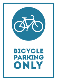 Bicycle parking only street sign 2 A4 template