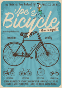 BICYCLE SHOP POSTER A4 template