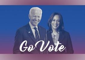 Biden Harris campaign go vote Postcard template