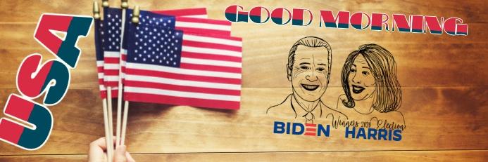Biden harris Banner 2 x 6 fod template