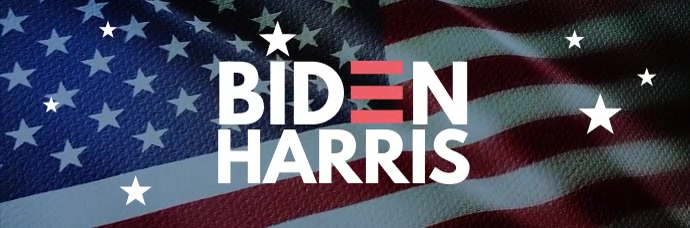 Biden Harris election campaign email header E-mail-overskrift template