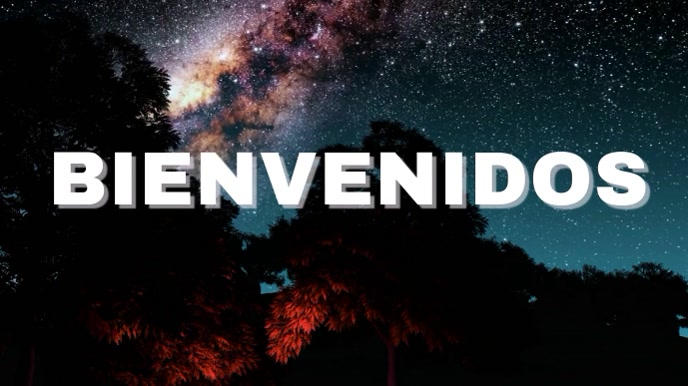 BIENVENIDOS Pantalla Digital (16:9) template
