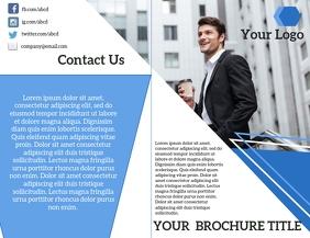 Bifold Brochure Flyer (format US Letter) template