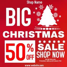 Big Christmas sale 50% off ads Instagram