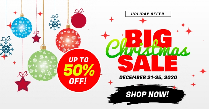 Big Christmas Sale Ad Template Facebook Shared Image