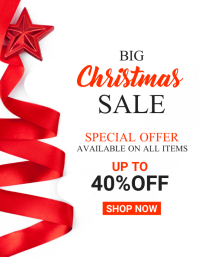 big christmas sale advertisement flyer design Pamflet (VSA Brief) template