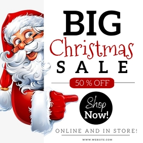Big Christmas Sale Event Flyer template Instagram Post