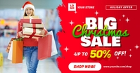 Big Christmas Sale Social Media Ad Template Facebook Shared Image