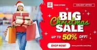 Big Christmas Sale Social Media Ad Template Imagem partilhada do Facebook