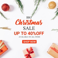 big christmas sales instagram post advertisem template