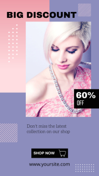 Big Discount Fashion Instagram-verhaal template
