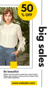 big fashion sales 50% off Isimo se-WhatsApp template
