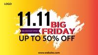 BIG FRIDAY 11.11 Template Cabeçalho de blogue