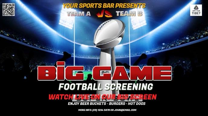 Big Game Digital Signage Template