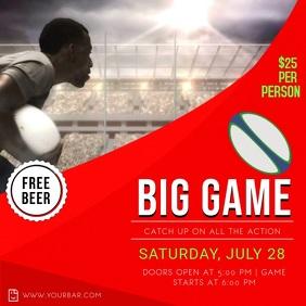 Big Game Rugby Screening Instagram Video